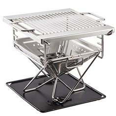 Quick Grill Small: Original Folding Charcoal BBQ Grill Made from Stainless Steel. Portable and Great for Camping, Picnics, Backpacking, Backyards, Survival, Emergency Preparation. Fox Outfitters http://www.amazon.com/dp/B00MHALAVE/ref=cm_sw_r_pi_dp_sr.Jvb0REW9Y7