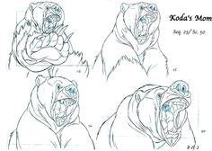 clean up scene of Koda´s mom sample model sheets (animation by Rune Brandt Bennicke, clean up by David Nethery)