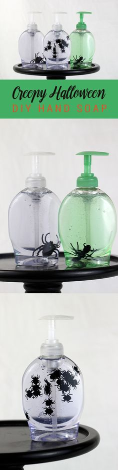 LOVE. Creepy Hand Soap for Halloween. Can't believe how easy this is to make. Great DIY gift or decor!