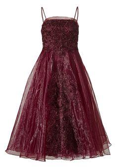 Kleid    Das Kleid aus Organza ist exklusiv und versprüht Romantik. Das Abendkleid in Bandeauform ist im Oberteil und entlang der vorderen Mitte mit bestickter Netzware besetzt. Eingearbeitete Brustpads, Stäbchen vorne, seitlich und hinten sowie ein Silikonband innen an der Oberkante, sorgen für den perfekten Halt. Die Trägerin hat jedoch auch die Wahl, das Kleid mit verstellbaren Spaghettiträg...