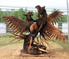 Sculpture from a tree trunk.