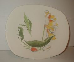 Viktor Schreckengost Salem China Platter Mid Century Modern MCM Water Lily USA #Salem #MidCenturyModern