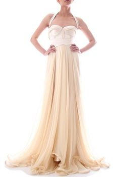 Delicate, feminine and flirty evening gown