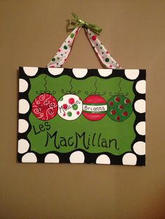 Personalized Christmas Painted Canvas