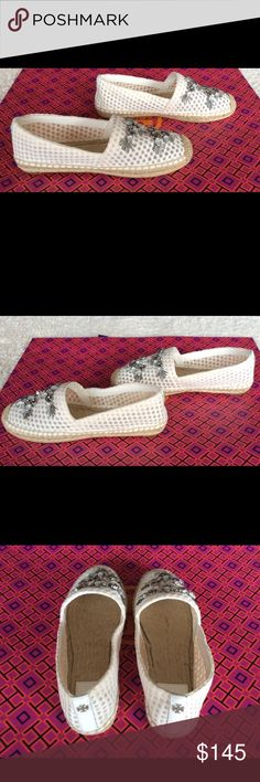 2c52371c3cec ROSAS EMBELLISHED A-LINE ESPADRILLE-BURCH MESH Brand new. More pictures and  information of these shoes in other listing. Tory Burch Shoes Espadrilles
