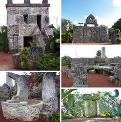 Coral Castle in Homestead, FL Ed Leedskalnin worked for 28 years on this tribute to his lost love.
