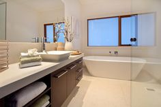 Point Cook - tropical - bathroom - melbourne - by Melbourne Contemporary Kitchens