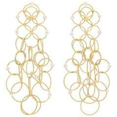 Stunning Diamond Gold Multi Hoop Earrings