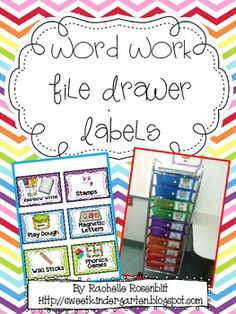 word work labels.