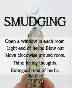 Cleanse and bless your home using the Native American ceremony of smudging with white sage. It removes negative energy and odors immediately! Smudging Prayer, Sage Smudging, Reiki, Spiritual Cleansing, Energy Cleansing, Sage Cleansing Prayer, Burning Sage, Removing Negative Energy, Smudge Sticks