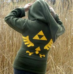 LINK Hoodie Cosplay the Legend of Zelda Deluxe w Hyrule LOGO w Zipper  | PoppysWickedGarden - Clothing on ArtFire