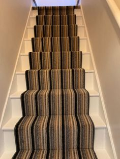 Greendale Carpets Ltd Naples Stripe laid to a staircase today by Steve. 👍 #carpets #staircarpet #stripedcarpet #staircarpetideas #stripes #stairs #stairwellideas Flooring Shops, Types Of Flooring, Stair Carpet, Carpet Styles, New Carpet, Carpet Ideas, Naples, Carpets, Stairs