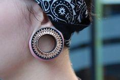 #Tunnel #gold #piercing