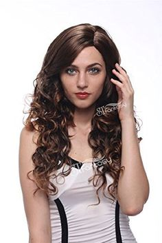 STfantasy 28 Charming Long Curly Brown Wigs For Women Free Cap -- This is an f1d681c1a