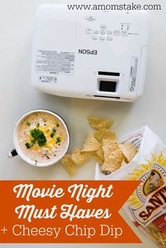 This chip dip is SO YUMMY! Perfect for a movie night with the family!