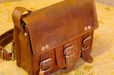 Steampunk Leather bag Cross Body Bag Handbag by usaleather on Etsy, $31.00