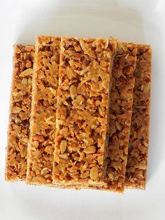 No-bake chewy granola bars
