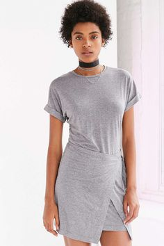 Silence + Noise Wrap T-Shirt Dress
