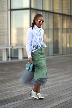 See all the best street style looks from the final week of Fashion Month: