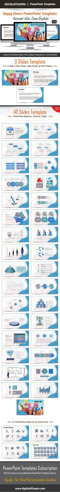 Impress and Engage your audience with Happy Divers PowerPoint Template and Happy Divers PowerPoint Backgrounds from DigitalOfficePro. Each template comes with a set of PowerPoint Diagrams, Charts & Shapes and are available for instant download.
