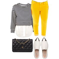 A fashion look from February 2015 featuring white tops, plus size skinny jeans and slip on shoes. Browse and shop related looks.