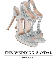 Camille La Vie Strappy Stiletto Platform Heels with Sparkle