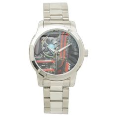 Computer_Components,_Large_Silver_Unisex_Watch Wrist Watch