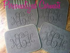 Personalized car mats. I wan these for Christmas!!!