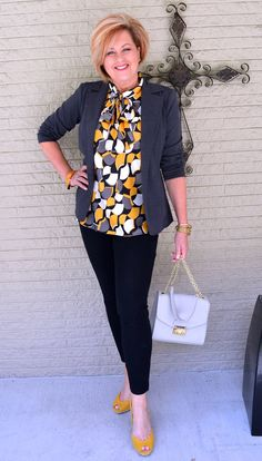 Like look but with different style blouse, not keen on something to high.  Pants a bit tight