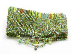 Bead Woven Cuff Bracelet- Peyote Stitch  free form peyote #beadwork