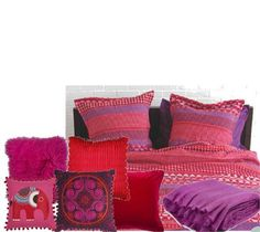 Reds and Purples Bedding by KerryL on Set That -