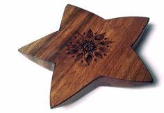 Carved Star Incense holder with pyrography. by FluffyFenris