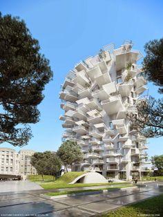 https://www.facebook.com/thehienkientrucdotcom Chung cư 17 tầng L'ARBRE BLANC ( WHITE TREE ) - MONTPELLIER, PHÁP (KTS SOU FUJIMOTO + NICOLAS LAISNE + MANAL RACHDI OXO)