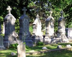 All in a Row  multiple headstones color photo by KarenGorrellArt, $10.00