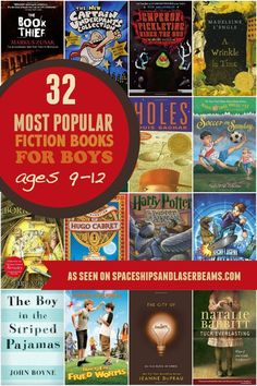Check out this great list of popular books for boys ages 9-12 for a great gift idea this holiday season.