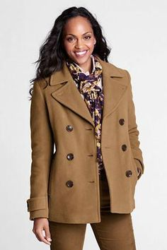 62d257b8cce Women s Luxe Wool Insulated Pea Coat from Lands  End Pea Coat