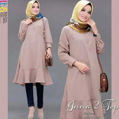 Jb INNA TOP PR001 Cocok sekali buat dipakai sehari-hari. Baju ini khusus buat kalian yang pengen tampil cantik Harga : 85.000 Bahan : Moshcrepe Ukuran : all size fit to L  Informasi dan pemesanan hubungi kami SMS/WA +628129936504 atau www.ummigallery.com  Happy shopping Batik Fashion, Abaya Fashion, Muslim Fashion, Women's Fashion, Casual Hijab Outfit, Elegant Outfit, Stylish Dress Designs, Stylish Dresses, Kurti Patterns