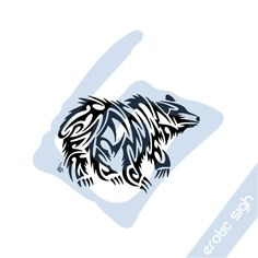 Fabulous Tribal Bear Tattoo Design