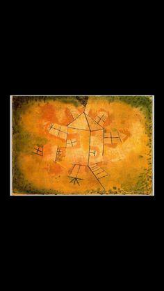 """Paul Klee - """" La maison tournante """", 1921 - Huile et crayon sur toile sur papier - 37,7 x 52,2 cm - Musée Thyssen-Bornemisza, Madrid"""
