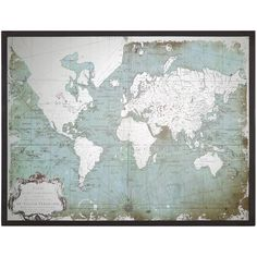 Antique world map national geographic antique world pinboard map jessa industrial loft mirror printed world map 180 liked on polyvore featuring gumiabroncs Gallery