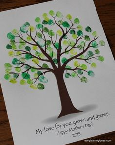 Mother's Day fingerprint tree gift