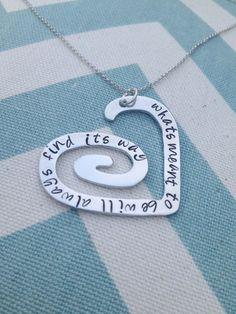 Swirl Heart Pendant - $11.99. http://www.bellechic.com/products/81a373834d/swirl-heart-pendant