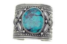 Andy Cadman, Kingman Turquoise Bracelet, Sterling Silver, Signed, Navajo
