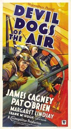 DEVIL DOGS OF THE AIR - James Cagney - Warner Bros. - Movie Poster.