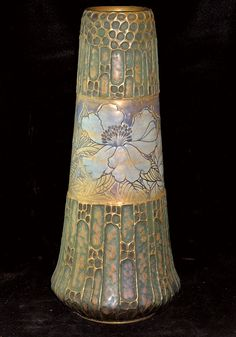 Riessner, Stellmacher and Kessel Amphora Vase with a floral decoration.