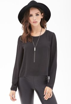 Every Woman's Wardrobe Needs at Least One Black Blouse : Simple Design Black Blouse 2017