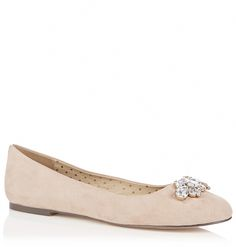 Womens shell pink flats from Oasis - £28 at ClothingByColour.com