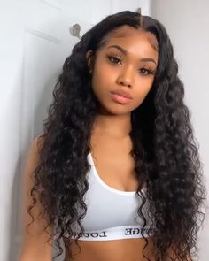Baddie Hairstyles, Weave Hairstyles, Shaved Hair Designs, Curly Hair Problems, Curly Lace Front Wigs, Business Hairstyles, Braided Hairstyles For Wedding, Hair Laid, Aesthetic Hair