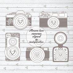 Rustic cameras clipart by burlapandlace on Creative Market