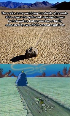 Mysterious moving rocks explained…